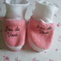 Sapatinho Rosa e Branco Sou da Vovó :) - 0 a 3 meses - Não informada