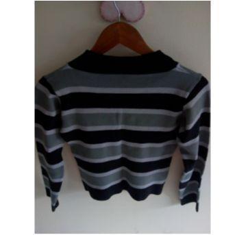 Blusa listrada ❤️ Malu veste para você ver como fica =] - 12 anos - sem etiqueta