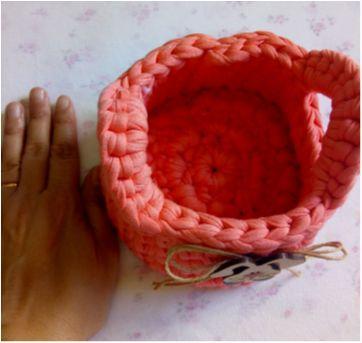 Cestinha de crochê coelhinho da Páscoa - Sem faixa etaria - Feito à mão