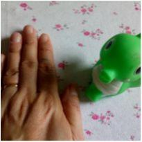 Cavalo marinho verde de borracha -  - Sem marca