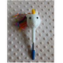 Amigurumi unicórnio pode ser usado na caneta ou no lápis, novinho -  - Feito à mão