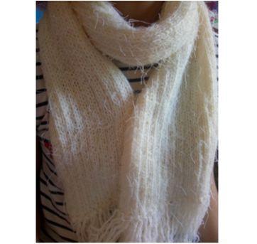 Cachecol branco ❤️ inverno - Sem faixa etaria - Feito à mão