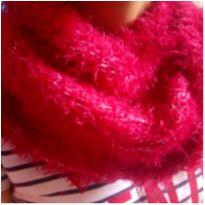 Cachecol vermelho cereja ❤️ inverno -  - Feito à mão