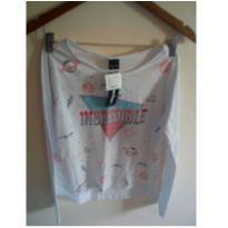 Camiseta manga longa Rovitex nova - com etiqueta - 14 anos - Rovitex