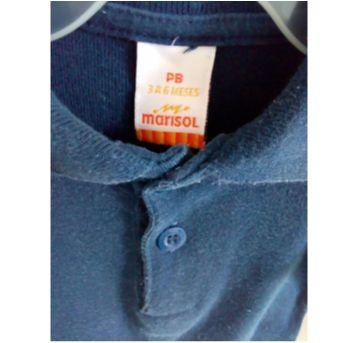 Body manga longa Marisol tamanho 3-6 m - 3 a 6 meses - Marisol