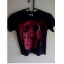 camiseta super heroi Hellboy - 12 anos - Marca não registrada