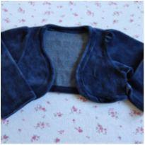 Casaquinho bolerinho azul - 9 a 12 meses - Elian
