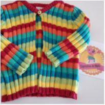 Tricô colorido Paola Bimbi - 3 a 6 meses - Paola BimBi e Paola tricot