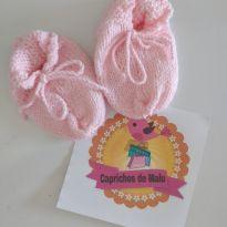 Sapato de lã rosa -  - Feito à mão