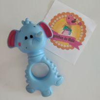 Mordedor e chocalho Elefante azul Pais e filhos -  - Pais e Filhos