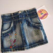 Saia jeans meninas com florzinhas tamanho 8 - 8 anos - Review