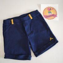 Shorts azul com amarelinho - 9 a 12 meses - Bananas baby