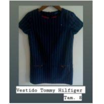 Vestido Risca de Giz Tommy - 8 anos - Tommy Hilfiger
