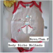 Body regatinha Bicho Molhado - 0 a 3 meses - Bicho Molhado