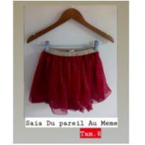 Saia Francesa com tule vermelho Du Pareil au même ❤️ - 8 anos - DPAM (Du Pareil Au Même)