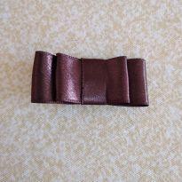 Laço chanel marrom  - no bico de pato =] -  - Artesanal