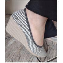 Sapato Anabela tam. 37 - 36 - Marca não registrada