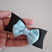 Laço preto e azul médio -  - Sem marca