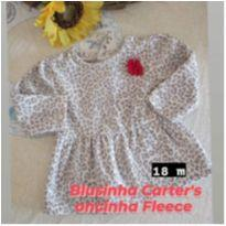 Blusinha Carter`s oncinha Fleece - 18 meses - Carter`s