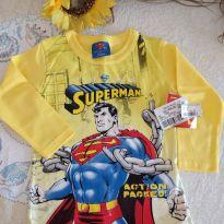 Camiseta Superman mg longa - 2 anos - Não informada