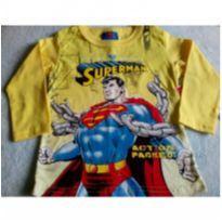 Camiseta manga longa Superman - 2 anos - Marlan