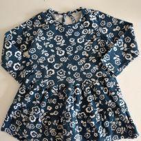Vestido manga longa floridinho cód 12 - 9 a 12 meses - Hering Kids