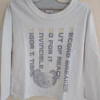Camiseta manga longa da Tigor, manga 32 cm, busto 30 cm, comp 35 cm cód 25 - 2 anos - Tigor T.  Tigre