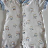 Macacão Baby Cottons com estampa de ursinhos cód 08 - 3 meses - Baby Cottons
