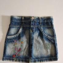 Saia jeans com detalhes de florzinha tamanho 8 - 8 anos - Review
