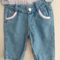 Calça para bebê em jeans molinho tamanho 3-6 meses - 3 a 6 meses - Teddy Boom