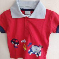 Camisa polo para bebê da marca planeta pano 3/6 meses - 3 a 6 meses - Planeta pano