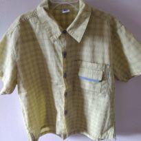 Camisa verde de botões para meninos tam. 2 CÓD 113 - 2 anos - Marca não registrada