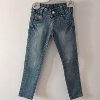 Calça jeans meninas tam. 4 CÓD 136 - 4 anos - Akiyoshi
