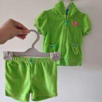 Conjuntinho blusinha e shorts saida de praia Carter`s cód 239 - 6 meses - Carter`s