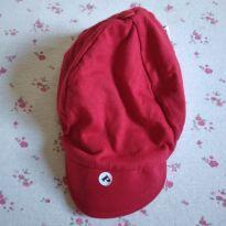 Boné de tecido Paraíso vermelho Novinho