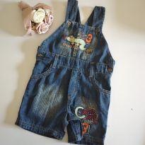 Jardineira jeans tamanho M código 45 para menino - 3 a 6 meses - Marca não registrada