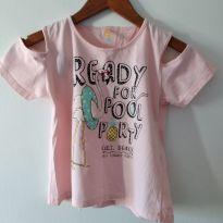 Camiseta manga estilosa Flamingo tamanho 12 cód 114A - 12 anos - Marca não registrada