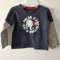 Camisetinha manga longa Teddy Boom 9- 12 meses cód 2 - 9 a 12 meses - Teddy Boom e TEDDYBOOM