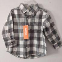 Camisa Manga longa Gymboree Nova e com Etiqueta cód 7 - 12 a 18 meses - Gymboree