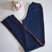Calça azul com filete laranja - uniforme da Malu - 12 anos - Marca não registrada
