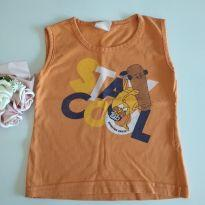 Camisetinha regata laranja para os meninos cód 32 - 1 ano - Não informada