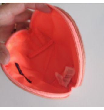 Necessaire pequena laranja neon Atmosphere cód 30SD - Sem faixa etaria - Atmosphera