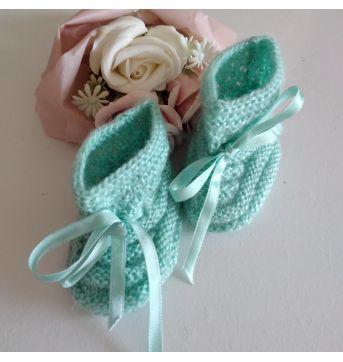 Sapatinho de lã para recém nascido - Sem faixa etaria - Artesanal e Feito à mão
