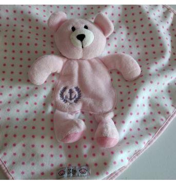 Naninha Ursa Rosa Zip Toys cód 34U - Sem faixa etaria - Zip Toys