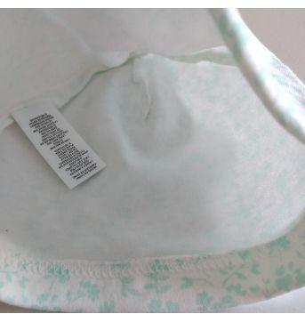 Touca Baby verde água/branco 6 M cód 29U - Sem faixa etaria - Sem marca