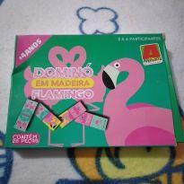 Jogo Dominó em madeira Flamingo cód 15C -  - algazarra
