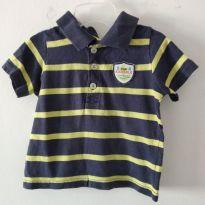 Camiseta Listrada Carter`s 12 M cód 02B - 1 ano - Carter`s