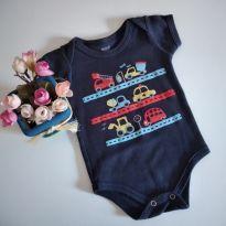 Body manga curta Meios de transporte fofo tam M cód 41F - 3 a 6 meses - Doctor Baby
