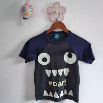 Camiseta monstrinho tamanho 8 código 35A - 8 anos - MR Kids e MR.KIDS