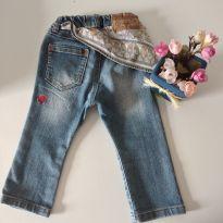 Calça jeans estilosa vintage meninas babys cód 15 - 1 ano - Importada